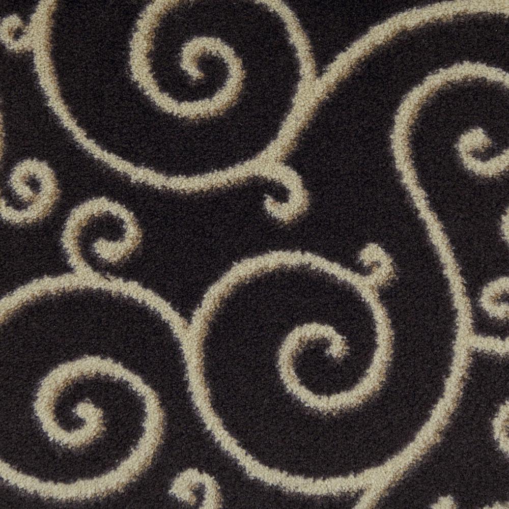 Milliken imagine designer patterned carpet and rugs for Black and white patterned carpet
