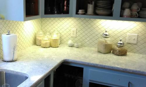 High gloss white Arabesque mosaics